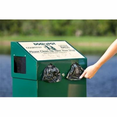 Dogipot 1001-2 Aluminum Dog Waste Station, Forest Green