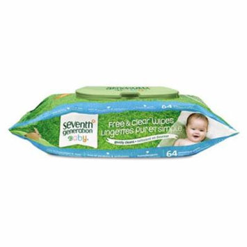 Sev 34208CT Free & Clear Baby Wipes, White
