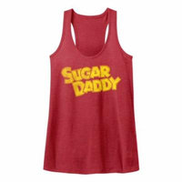 Tootsie Roll Chocolate Flavored Candy Vintage Sugar Daddy Logo Adult Tank Top
