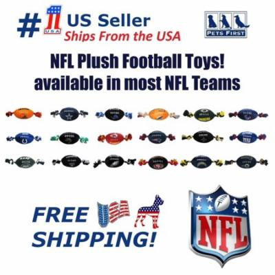 Pets First NFL Jacksonville Jaguars Plush Football Rope Toy for Dogs & Cats - Soft, Chewy & Squeaky
