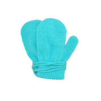 Dorfman Pacific Toddler Stretch Mittens on a String, Size: one size Turquoise