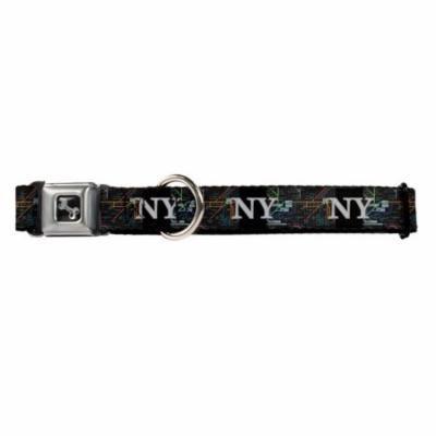 NY New York Grafitti on Black Fun Animal Seatbelt Pet Collar