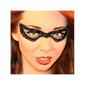 Black Bad Girl Eye Mask Jewel Xotic Eyes Professional Temporary Make Up Bat Eye