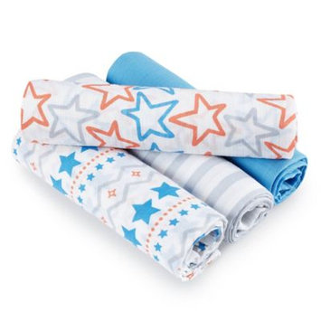 aden by aden anais 4 Pack Swaddle Blanket - Small Fry