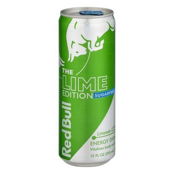 Red Bull Sugarfree Lime Edition, Limeade Energy Drink, 12 Fl Oz Cans, 24 Pack