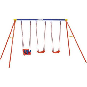 Kettler 8KIT-382-790B Multi Play Swing set with Baby Swing Seat Glider Accessor