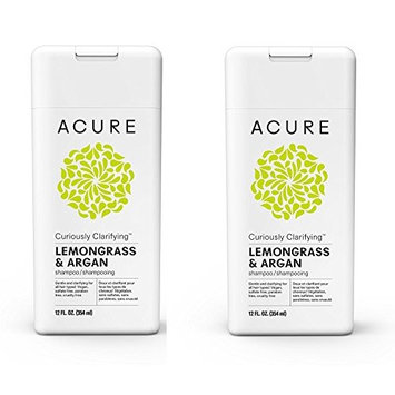 Acure Curiously Clarifying Lemongrass Shampoo, 12 Fluid Ounces - PACK/2