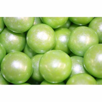 GUMBALLS SHIMMER LIME GREEN 25mm or 1 inch (114 count), 2LBS