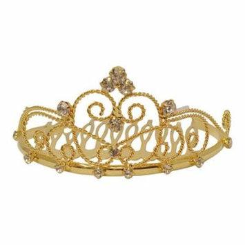 Futuron Girls Gold Wire Glitter Stone Special Occasion Comb Headpiece