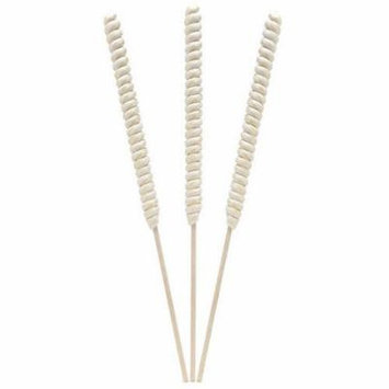 Tesla Pops Tremendously Tall Twist White Pineapple Flavored Lollipops, 12 count