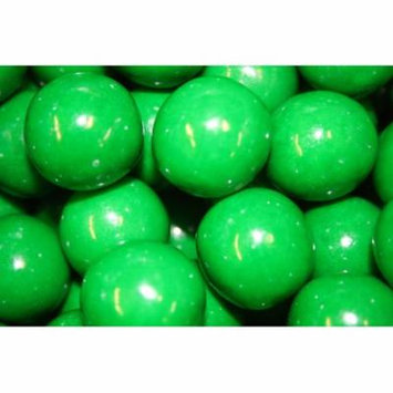 GUMBALLS GREEN 25mm or 1 inch (57 count), 1LB