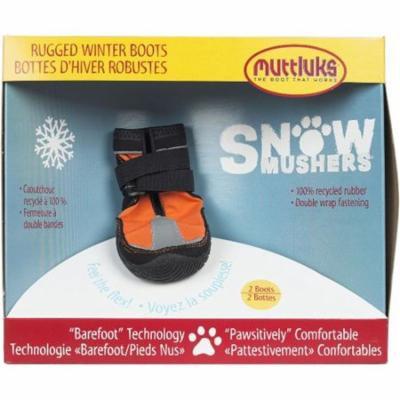 Muttluks Snow Mushers Dog Boots - Orange with Black Trim Size 5