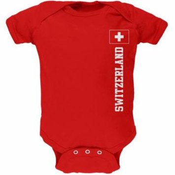 World Cup Switzerland Red Soft Baby One Piece
