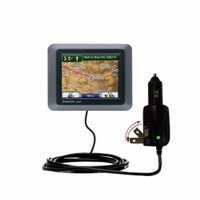 Intelligent Dual Purpose DC Vehicle and AC Home Wall Charger suitable for the Garmin Nuvi 500 - Two critical functions, one unique charger - Uses Goma