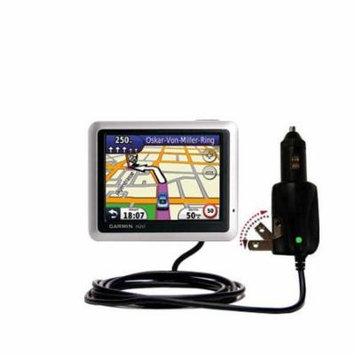 Intelligent Dual Purpose DC Vehicle and AC Home Wall Charger suitable for the Garmin Nuvi 1245 City Chic - Two critical functions, one unique charger