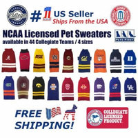 Pets First Collegiate USC Trojans Pet Dog Sweater - Licensed 100% Warm Acrylic knitted. 44 College Teams, 4 sizes