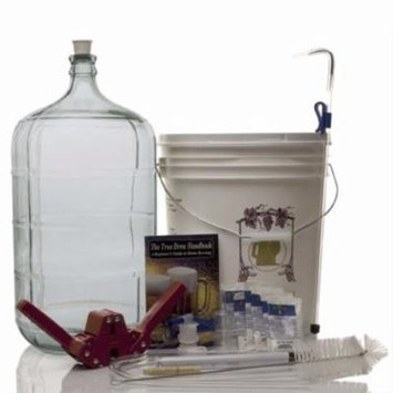 Gold Complete Beer Equipment Kit (K6+) plus with 6 Gallon Glass Carboy with A...