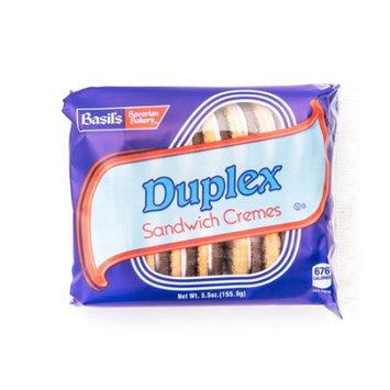 Biscomerica Basil's Cr me Sandwich Cookies, Duplex, 5 Oz, 24 Ct