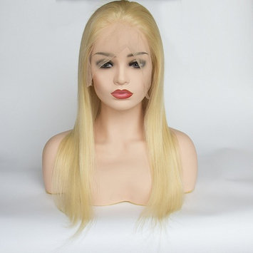 AllHairz Full Lace Wigs Human Hair Wigs 613 Blonde Wigs 150 Density Silky Straight With Baby Hair 100% Brazilian Human Remy Hair Glueless Wig