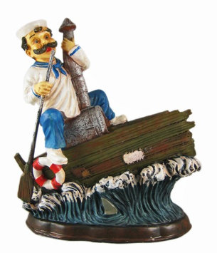 Zeckos Funny Shipwrecked Sailor Wine Bottle Holder