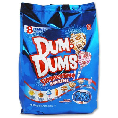 Dum Dums SummerTime Favorites 250 count bag