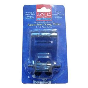 Aqua Culture: Aquarium 2-1/2 Way Gang Valve, 1 Ct