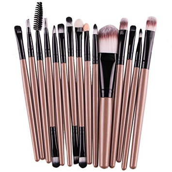 Malloom 15 pcs Beauty Eye Shadow Foundation Eyebrow Lip Brush Makeup Brushes ...