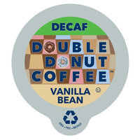 Double Donut Coffee Decaf Vanilla Bean Flavored Coffee Single Serve Cups For Keurig K Cup Brewer