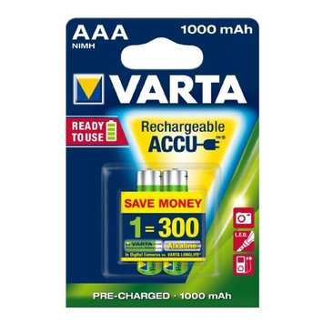 Varta AAA NiMH Rechargeable Battery 2-Pack 1000mAh