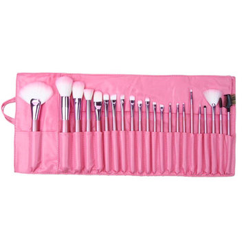 Wholesale 22pcs Professional Cosmetic Makeup Brush Set with Pink Bag Pink Christmas Gift