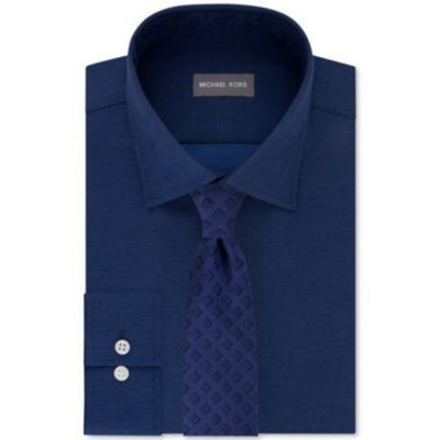 Men's Airsoft Solid Dress Shirt & Foreshadow Square Tie
