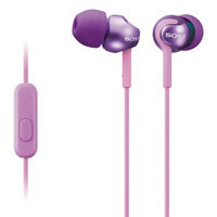 Sony Mdrex110ap/v Ex Monitor In-ear Headphones With Microphone (violet)