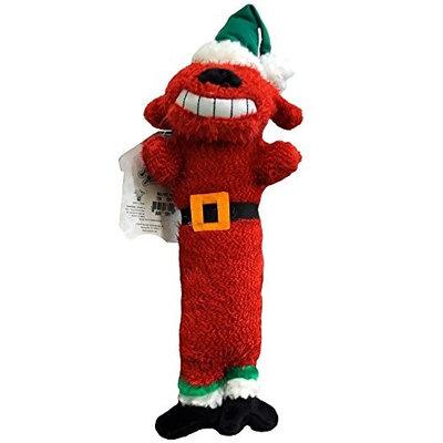 Multipet International Small Santa Loofa Dog Toys - Red