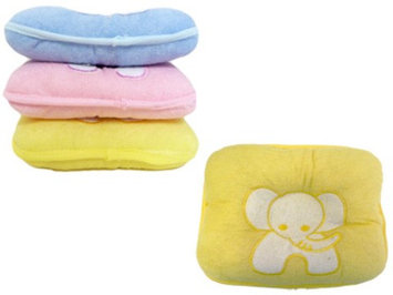 Family Maid 2122756 Baby Pillow with Elephant - Blue Pink & Yellow