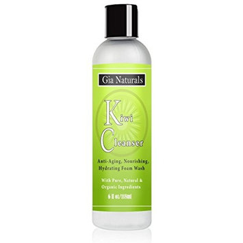 Pure, Natural & Organic Kiwi Cleanser. Anti-aging, Nourishing, Foaming Wash. Sulfate & Paraben Free. Healing, Gentle, Great for all Skin Types. Cruelty Free. Made in USA