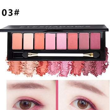 Hot Sale!Pro Eyeshadow Palette,ZYooh 8 Colors Glitter Matte Eye Shadow Makeup Palette Shimmer Eyeshadow Cosmetic Set