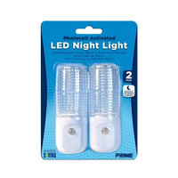 Prime Wire & Cable NLAE332P Automatic Night Light White LED (2 PCS Set), 1 Pack
