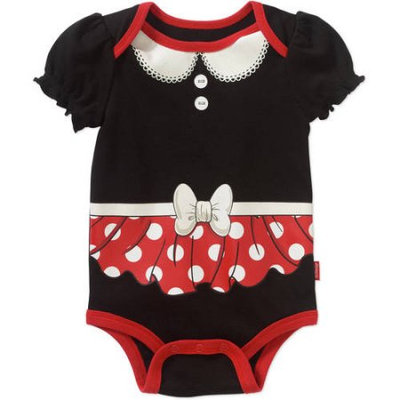 Minnie Mouse Newborn Baby Girls' Puff Sleeve Bodysuit