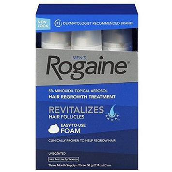 Rogaine Men's Easy-To-Use Foam 6.33 oz, 3 ea (Pack of 4)