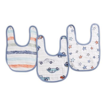 aden by aden + anais snap bib 3 pack, hit the road