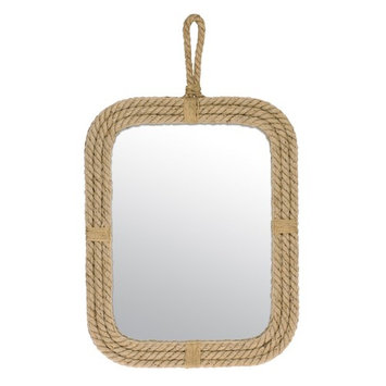 Stonebriar Collection Rope Rectangular Wall Mirror