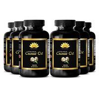 Digestion supplements - EXTRA VIRGIN COCONUT OIL 3000 MG - Digestive cleanser - 6 Bottles 360 Softgels