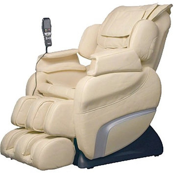 Titan TI7700D Model TI-7700 Massage Chair in Cream, Zero Gravity, 6 Different Massage Types, 5 Pre-set Programs, Foot & Calf Massage, S-Track Roller System, Outer Shoulder Massage