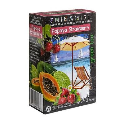China Mist Naturally Flavored Papaya Strawberry Iced Green Tea Bags, 0.5 oz, 4 counts