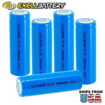 5x IMR 14430 3.7V 650mAh Li-Ion Rechargeable Vaporizer LED Batteries
