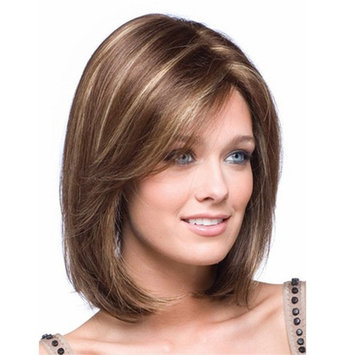 Bob Wigs Short Straight Syntheyic Hair Full Wigs for Women Natural Looking Heat Resistant +Free Wig Cap