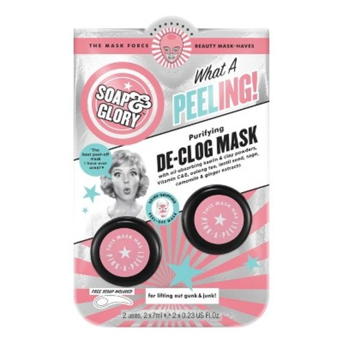 Soap & Glory What A Peeling De-Clog Mask - 2 x .23oz