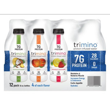 Trimino Brands Trimino Protein Infused Water, Variety Pack, 16 Fl Oz, 12 Ct