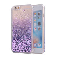 Urberry Iphone 6 Liquid Case, Sparkle Love Heart Soft Case for iPhone 6s/6 4.7 inch with A Screen Protector