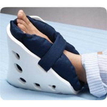 Posey Quilted Heel Pillows, Solid Blue, Pair